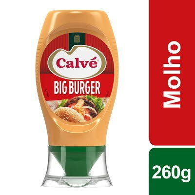 Calvé molho Big Burger Top Down 260 Gr