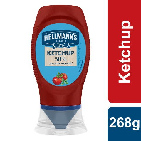 Hellmann's Ketchup -50% Açúcar Top Down 268gr