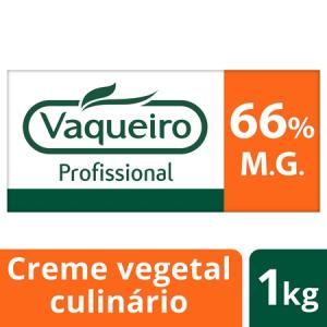 Vaqueiro Profissional creme vegetal culinário e fritura rasa 66% 1Kg