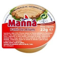 Paté de Atum 22g (Manná)