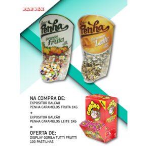 Penha Pack = Caramelos Fruta + Caramelos de Leite + Oferta Pastilhas Gorila Tutti-frutti