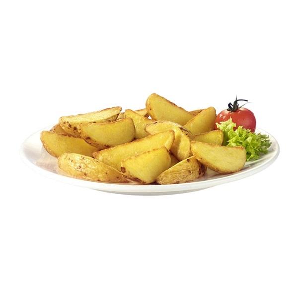 Tranches de pommes de terre avec peau